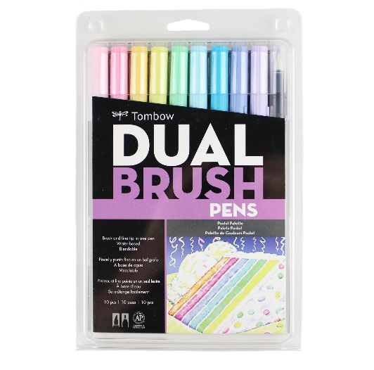 TOMBOW DUAL Set 10 colores pasteles