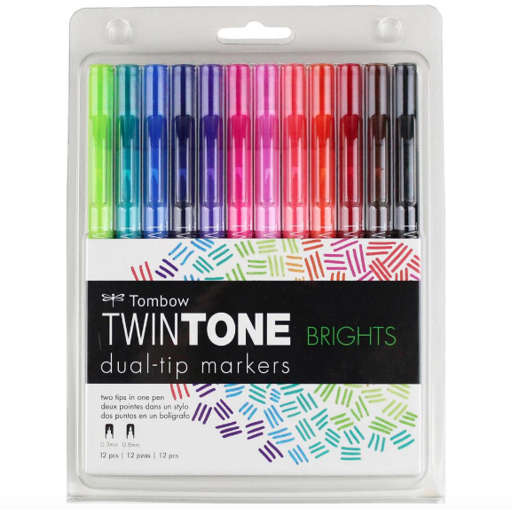Set Tombow Twintone - Brillantes