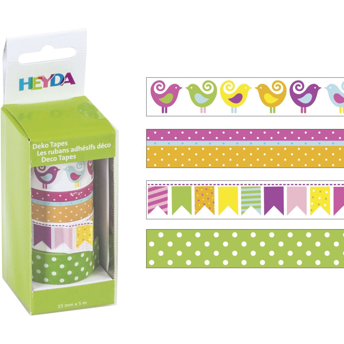 Deco tape Heyda- Pajaritos