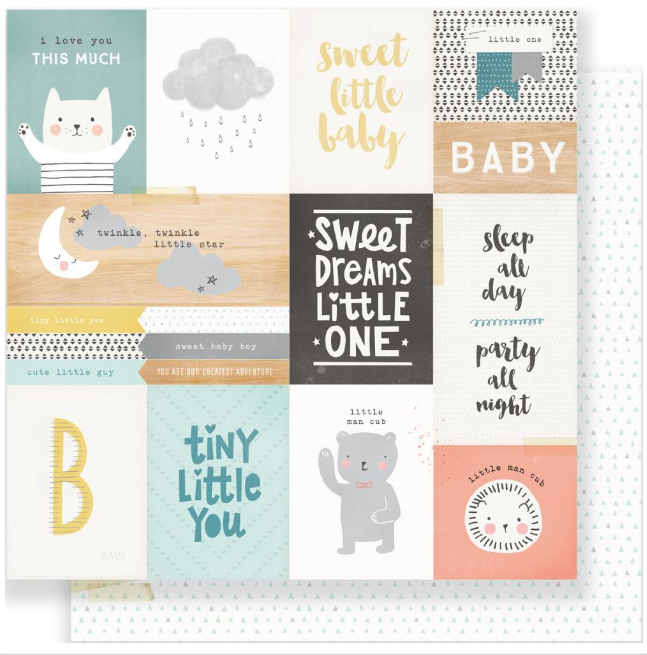 PAPEL ESTAMPADO DOBLE CARA 12x12 - LITTLE YOU-LITTLE ONE