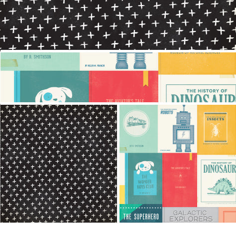 PAPEL ESTAMPADO DOBLE CARA 12x12 - COOL KID - BOYS CLUB
