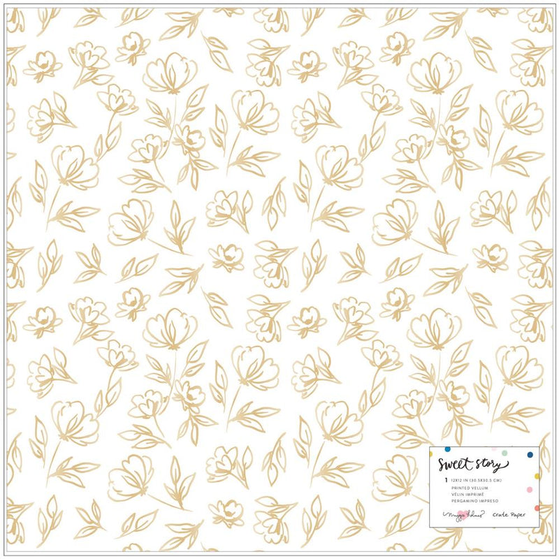 Papel Vellum 12x12 Sweet story- Goldie