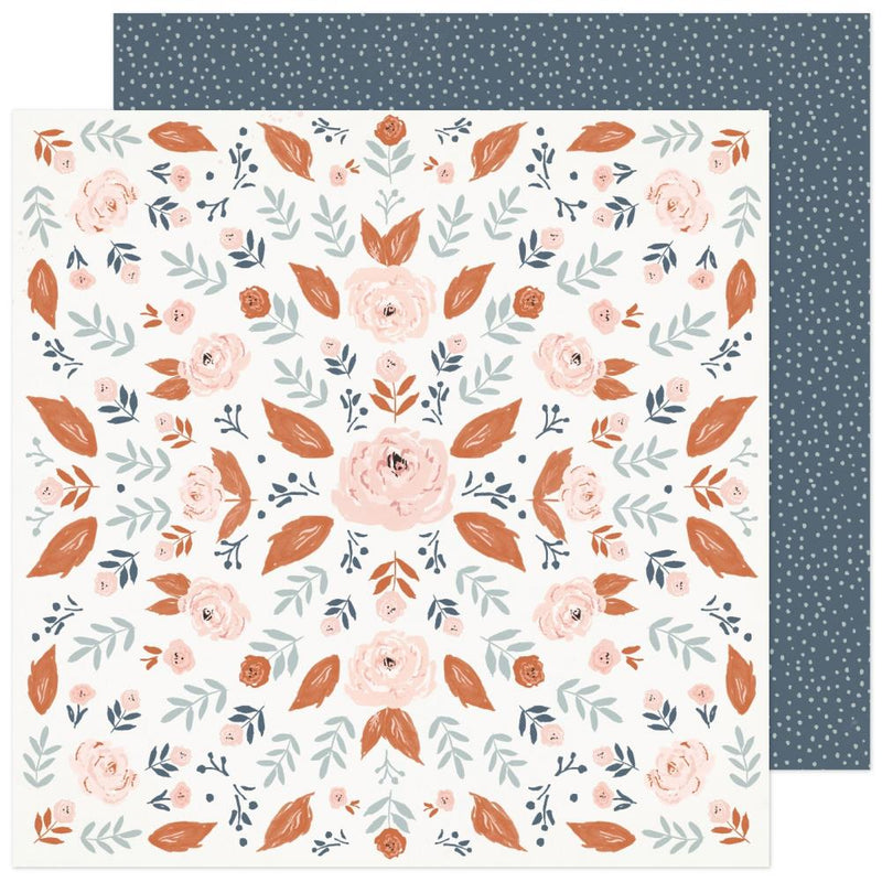 Papel 12x12 doble cara Fresh Bouquet- Wild Rose
