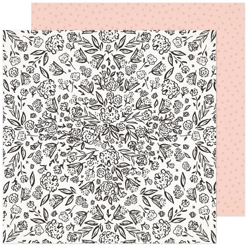 Papel 12x12 doble cara Fresh Bouquet- Gardens