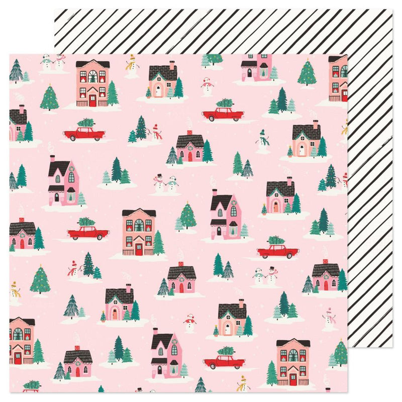 Papel 12x12 doble cara Hey Santa- City