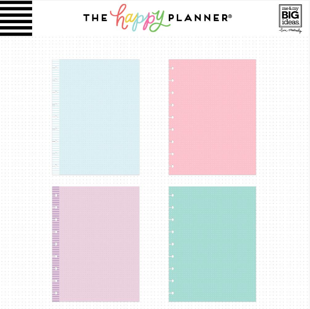Hojas de notas Happy Planner Classic - Puntos coloreados