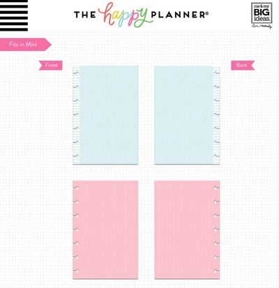 Hojas de notas Happy Planner Mini - Puntos coloreados