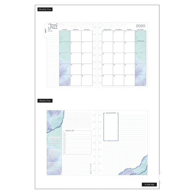 Classic Happy Planner - Soft modern geode