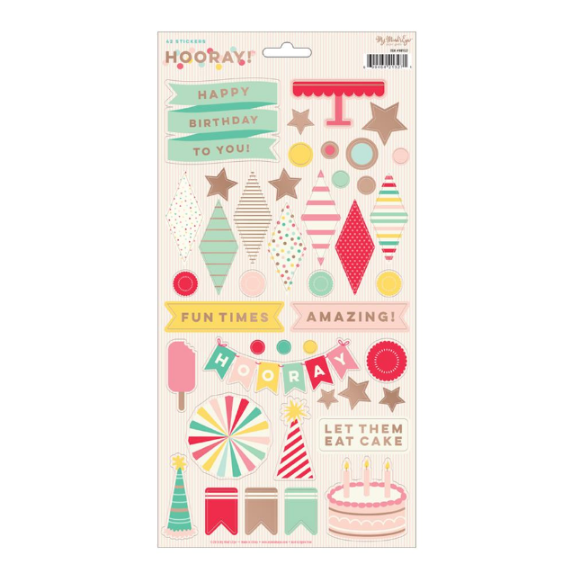 STICKERS 6″ X 12″ HOORAY