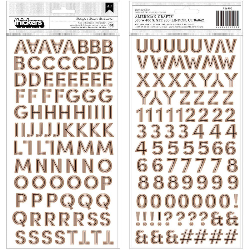 Sticker Letras - Spooky Thickers