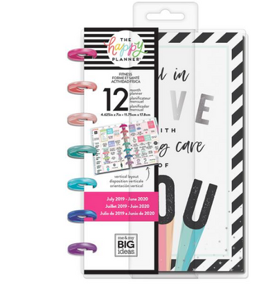 Mini Happy Planner - Fitness love - 12 Months (2019-2020)