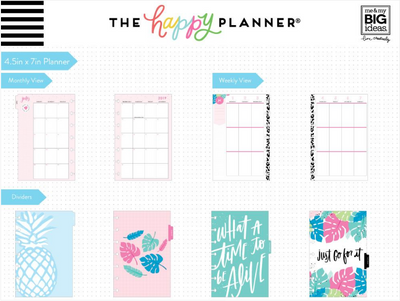 Mini Happy Planner - Pastel tropics - 12 Months (2019-2020)
