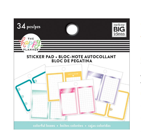 Sticker pad Happy planner - Funcional brights
