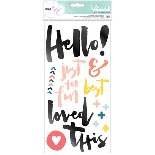 Stickers chipboard Thickers - Hello