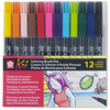 Set 12 Colores Plumón Acuarelable Koi Coloring Brush