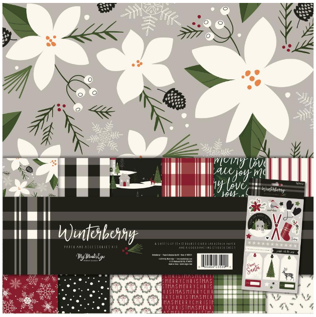 STACK PAPELES 12x12 - WINTERBERRY