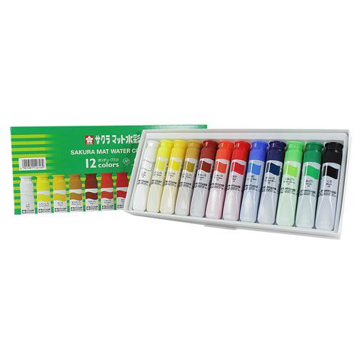 Set Acuarelas Semi transparentes 12 colores 12ml