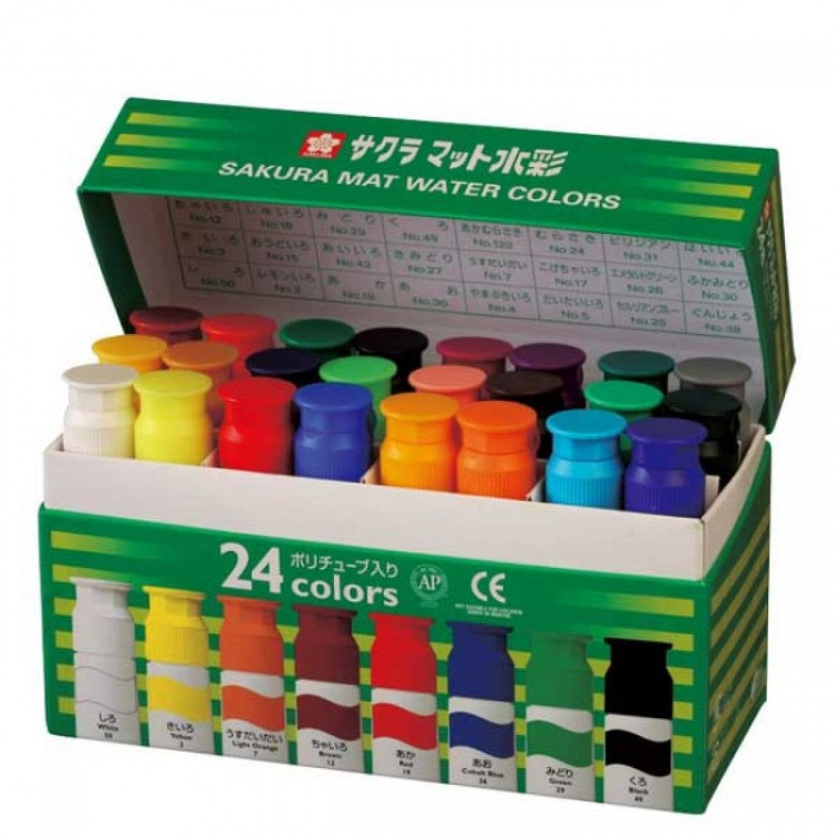 Set Acuarelas Semitransparentes 24 colores 12ml