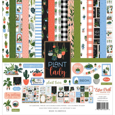Kit papeles y stickers 12x12 pulgadas- Plant Lady