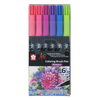 Set 6 Colores Plumón Acuarelable Koi Coloring Brush- Flores