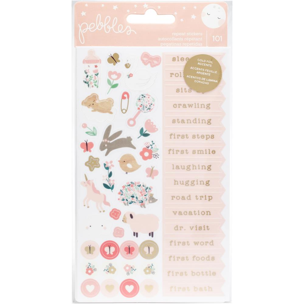 STICKERS  - Pebbles Night night baby girl