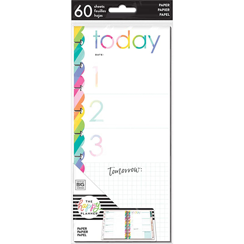 Medias Hojas de notas Happy Planner Classic - Today arcoiris