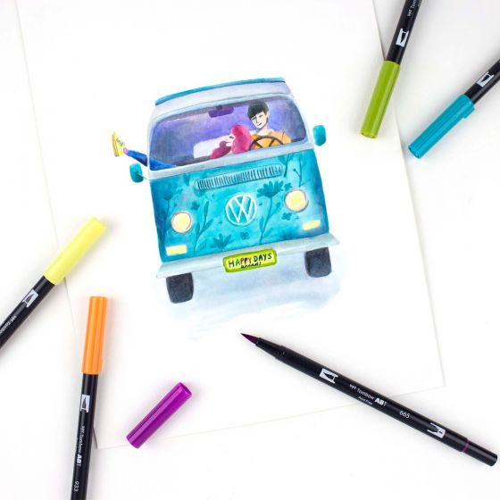 TOMBOW DUAL Set 10 colores -Retro