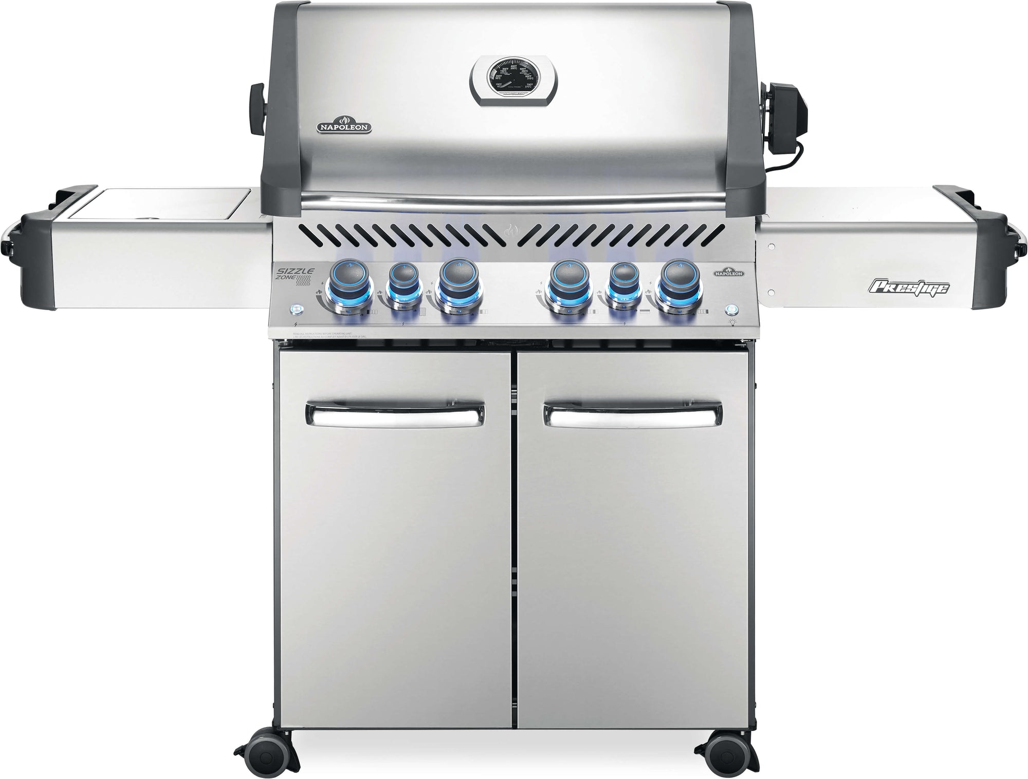 Prestige 500 NG - Stainless Steel with Side Infared and Rear Burner