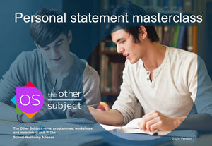 Personal statement masterclass – Extra participants