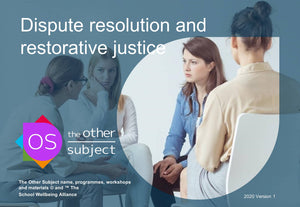 Dispute resolution and restorative justice - Extra participants