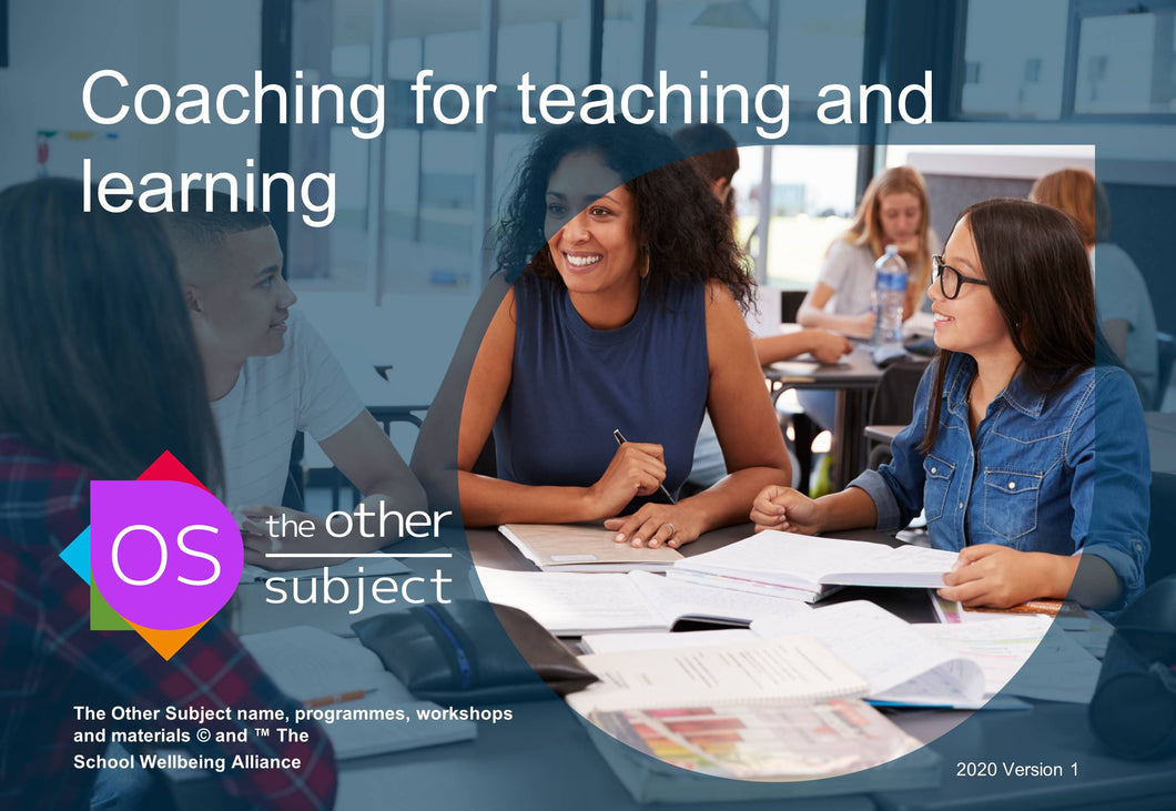 Coaching for teaching and learning