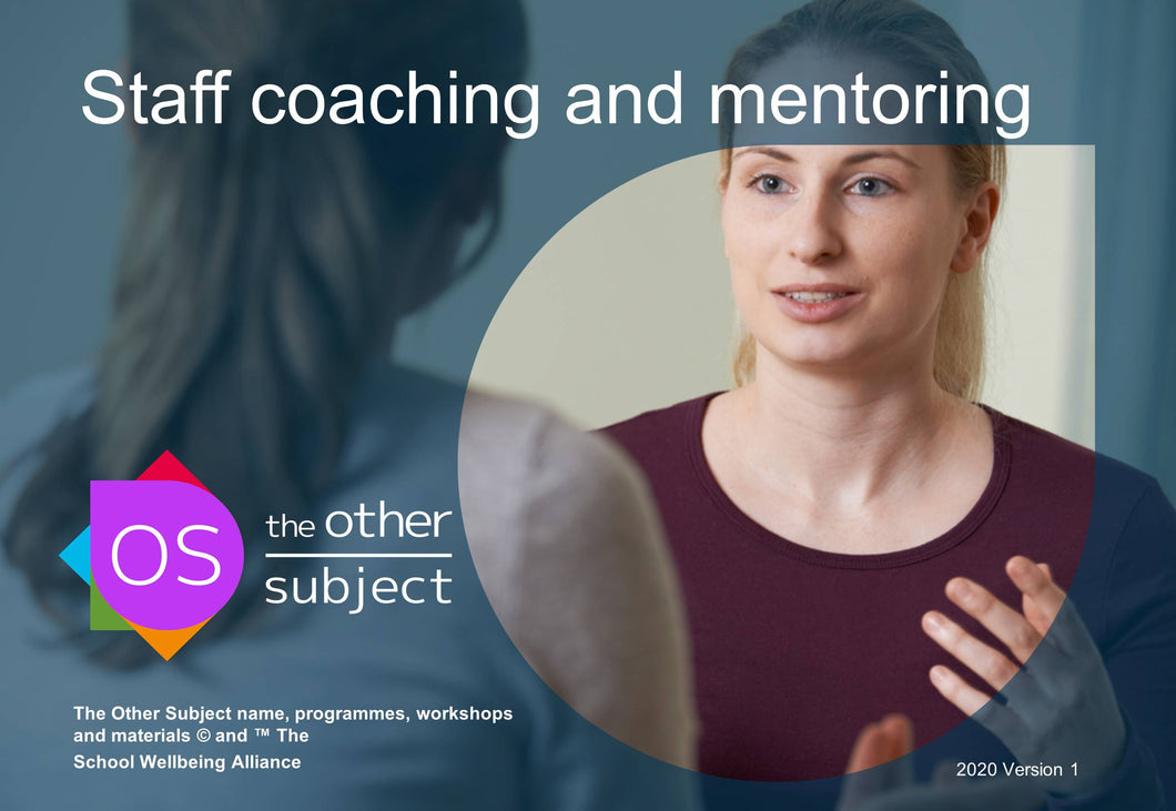 Staff coaching and mentoring