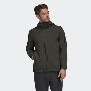 Adidas Men's BSC 3-Stripes RAIN.RDY Jacket Legend Earth FI0573