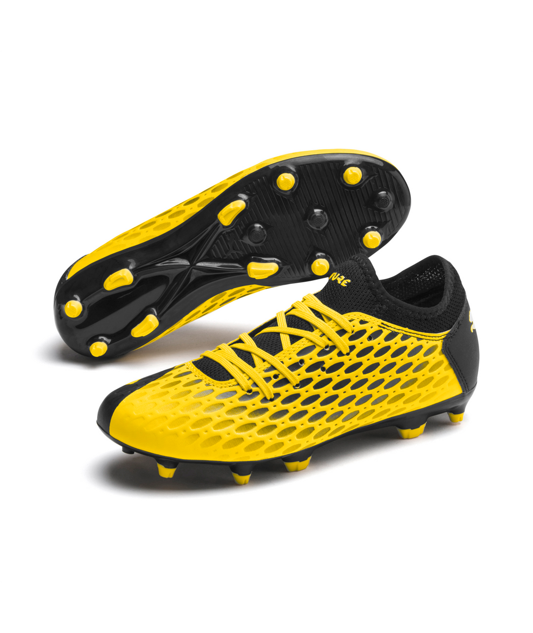 Puma Future 5.4 FG/AG Jr Yellow/Black 105810 03