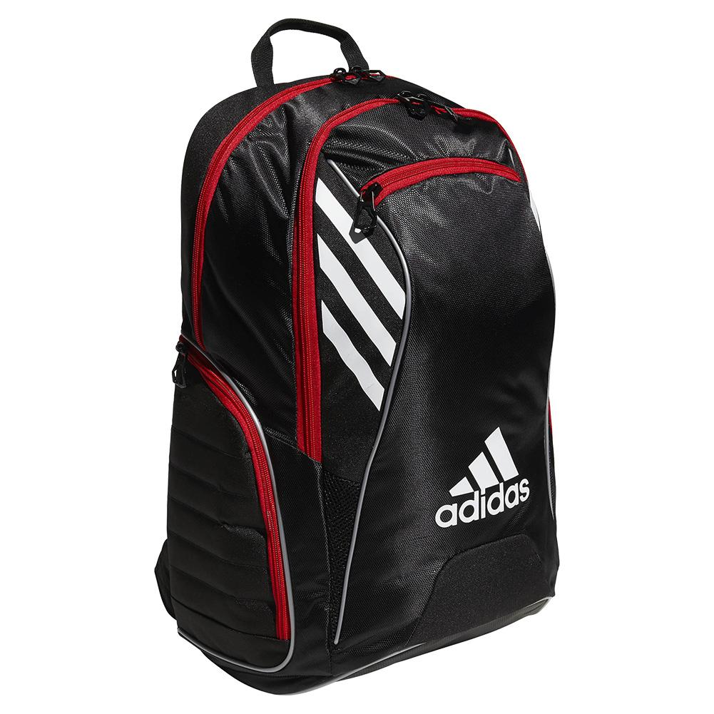 adidas Tour Tennis Racquet Backpack 5145773 Black/White/Scarlet