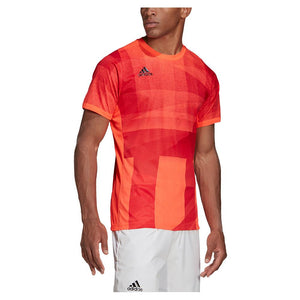 adidas Men's Free Lift Heat.Rdy Tennis Tee GE4840 Orange