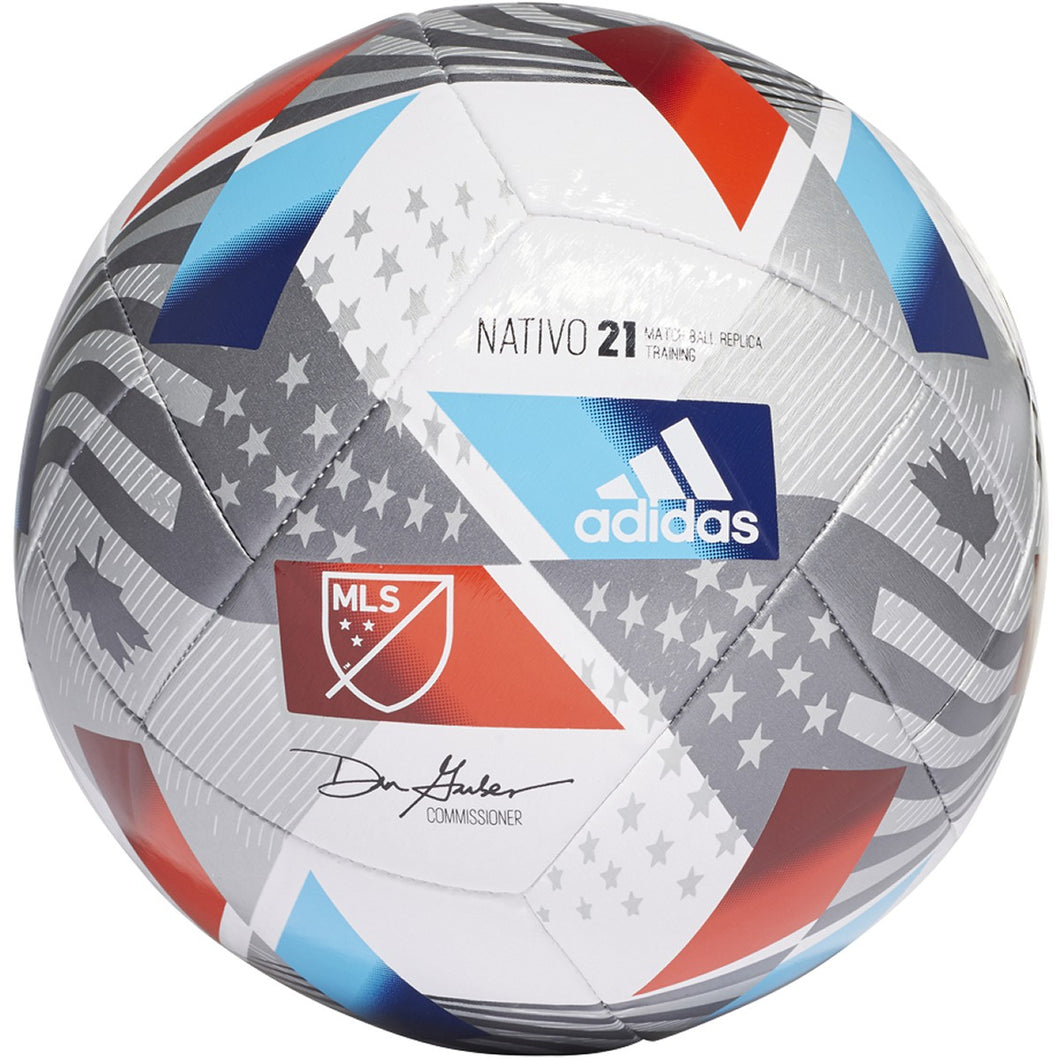 adidas MLS TRAINING Ball 2021- GK3501 White/Red/silver