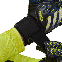 Load image into Gallery viewer, adidas Predator Match Fingersave Goalkeeper Gloves GK3539 Black/Yellow