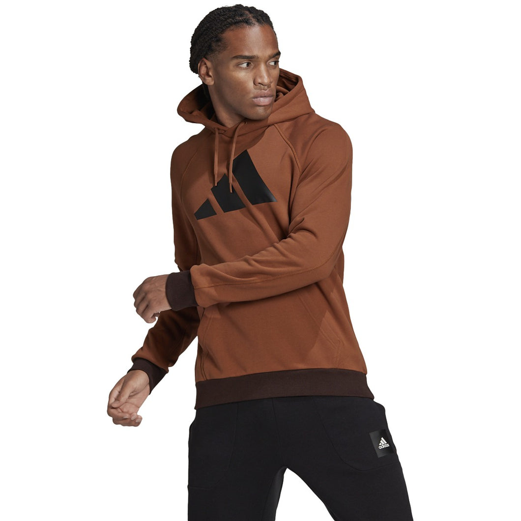 adidas Men's Badge of Sport Hoodie GL5685 Wild Brown