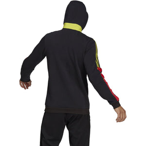 adidas Men's Tiro Sweat Hoodie GN5551 - BLK/VIVID RED/ACID