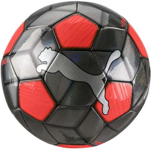 Puma One Strap Soccer Ball 083272 01 Silver/Red