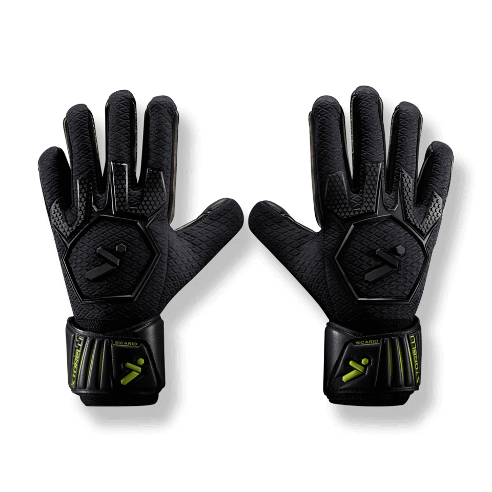 Storelli Sicario GoalKeeper Gloves with Speed Grip - Black-S