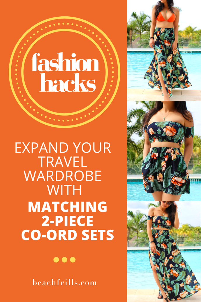 Expand your Wardrobe with Co-Ord Beach Cover-Ups & Matching Two-Piece Sets!