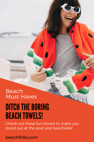 fun towels this summer to stand out on the beach and poolside- beach frills blog