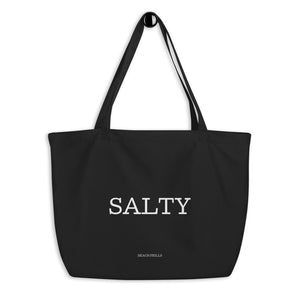 """SALTY"" Large Organic Tote Bag"