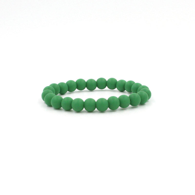 Christmas Green Silicon rubber 9MM bead bracelets