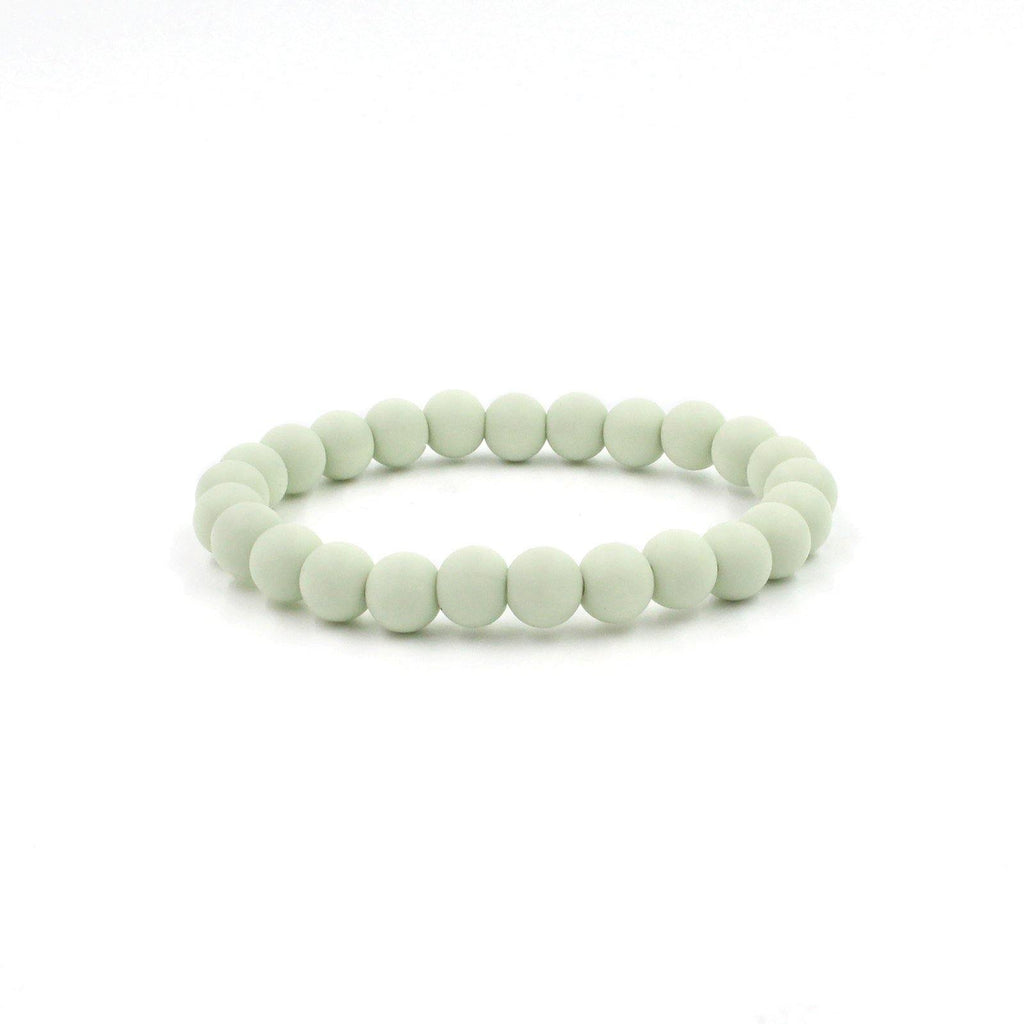 Dove Silicon rubber 9MM bead bracelets