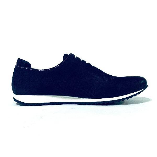 Blue Leathered Athletic Style Shoes 6