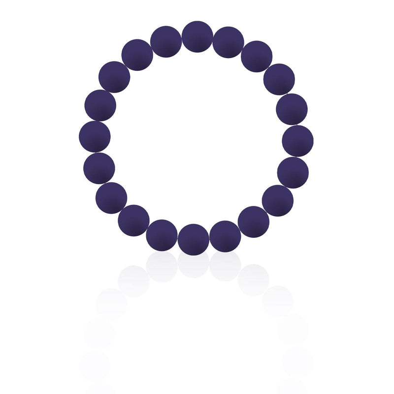 Navy Silicon rubber 9MM bead bracelets