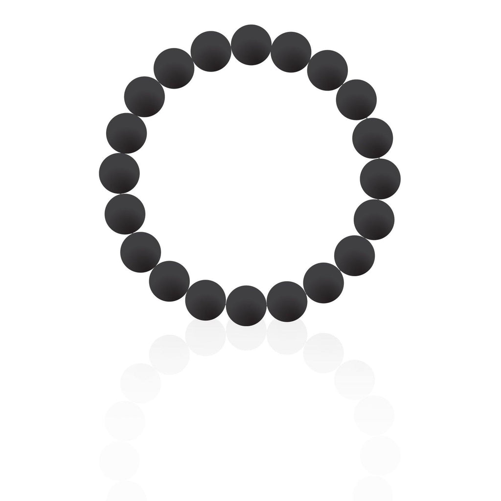 Black Silicon rubber 9MM bead bracelets